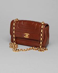 Brown quilted shoulder bag- Vintage Chanel