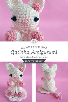 Amigurumi For Beginners, Crochet For Beginners, Crochet Animals, Crochet Hats, Amigurumi Tutorial, Sheep And Lamb, Amigurumi Toys, Free Pattern, Dinosaur Stuffed Animal