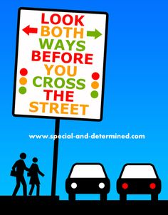 Getting children ready for school and teaching the street safety is extremely important.  Teaching your child about being safe outdoors and when they are not with you.  #backtoschool #speciaanddetermined #streetsafety