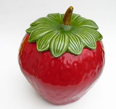 Vintage Strawberry Cookie Jar.  I have this in my kitchen!