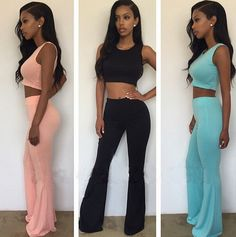 [ $22.00 ] Fashion  Tight  Shirt Top Tee  Pants Trousers Set Two-Piece