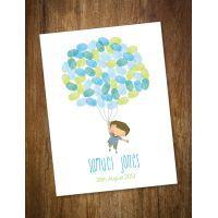 Life is Peachy Flying Boy Balloon Fingerprint Kit $45.00 www.mamadoo.com.au #lifeispeachy #mamadoo #keepsakes