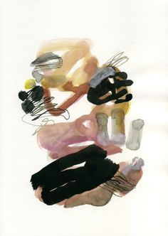 olivier umecker painting, ink, acrylic, gouache on paper