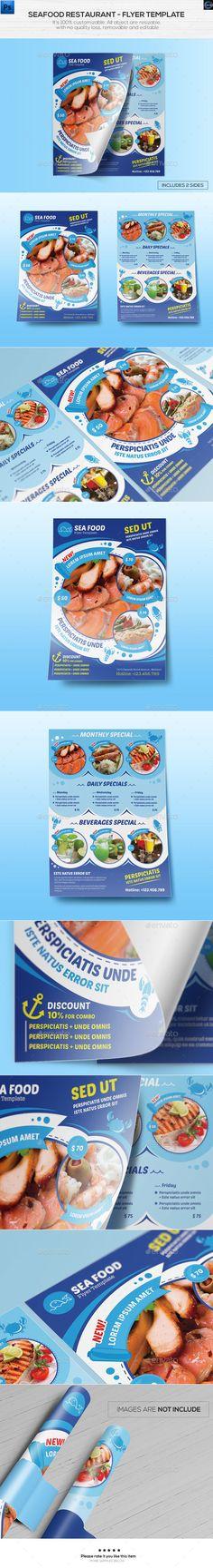 Seafood Restaurant - Flyer Template