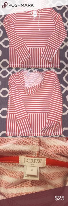 NWT J CREW RED STRIPED SWEATER! Brand NWT just doesn't fit me J crew Sweaters