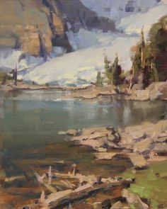 High in the Wind River Mountains - Scott L. Christensen | Current Artists | Western Visions | Auction, Show, Sale