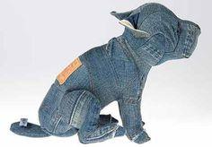 reciclar artesanías hechas de viejos pantalones vaqueros