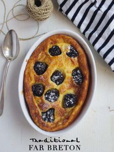 Le far (ou farz) breton. Far Breton, Lime Cream, Destinations, Pie, Sweet, Desserts, Food, Parakeet, Fine Dining