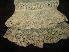 Civil War era pair of lace undersleeves.  SOLD