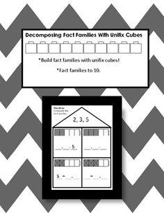 Decomposing Fact Families With Unifix Cubes - Carol Redmond - TeachersPayTeachers.com