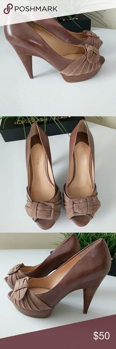 Gianni Bini Leather Platform Shoes High heel comfy sandals. Very soft leather. Size 9. Heels 3 1/2 in high. NWOT Gianni Bini Shoes Platforms