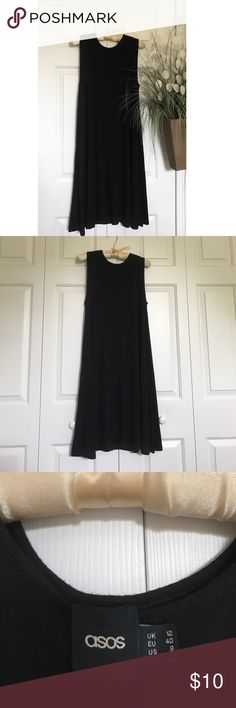 ASOS BLACK DRESS 💕ASOS BLACK DRESS! Like new condition! I got this for school, but I never ended up wearing it. Great, soft material! Perfect for summer or winter with knee socks/tights! I would recommend a statement necklace if you wanted to dress it up a bit! 💕 Asos Dresses Midi