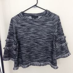 Black gray crop top Condition as shown above. I am moving out the state so I'm selling this I don't use anymore. Tops Tees - Short Sleeve
