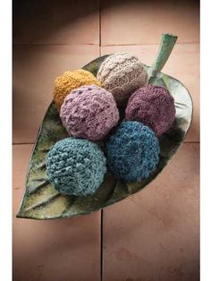 Knitting pattern for Aromatherapy Balls -great gift idea and stash buster. Add some essential oils for scented decor. Or use as dryer balls. More pics on Annie's (affiliate link) tba