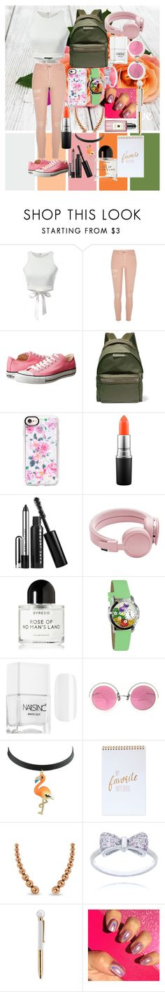 """""""Spring Palette #2"""" by nicoledesigner on Polyvore featuring Converse, STELLA McCARTNEY, Casetify, MAC Cosmetics, Marc Jacobs, Urbanears, Byredo, Whimsical Watches, Christian Lacroix and Allurez"""