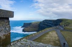 The cliffs to the right, looking down from O'Brien's tower.