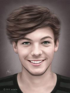 Louis Tomlinson by ~artistiq-me on deviantART One Direction Drawings, One Direction Art, Harry Styles, Desenhos One Direction, Cher Lloyd, Louis Williams, Duchess Of Cambridge, Duchess Kate, Louis Tomlinson