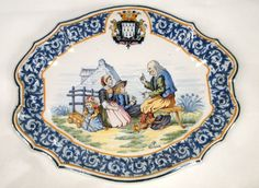 north carolina interior designer kathryn greeley uses quimper pottery from France Antique Pottery, Pottery Plates, Glazes For Pottery, Quimper Pottery, Minis, Miniature Kitchen, Blue China, French Country Style, Ceramic Painting