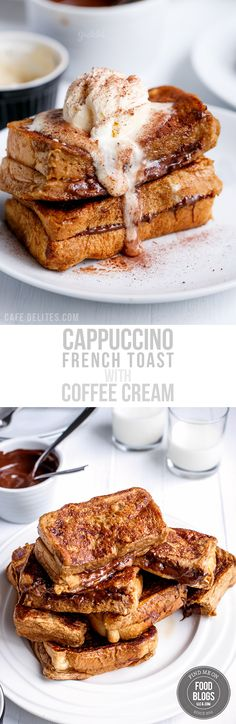 Cappuccino French Toast with Coffee Cream by Cafe Delites Great Breakfast Ideas, Breakfast For A Crowd, Breakfast Lunch Dinner, Best Breakfast, Breakfast Recipes, Breakfast Dessert, Top Food Blogs, Cappuccino Recipe, Food Lab