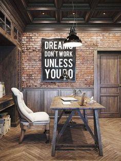 Aprende como decorar una oficina al estilo industrial ingresando a: http://decoraciondeoficina.com/como-decorar-una-oficina-al-estilo-industrial/