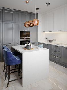 Modern Kitchen Interior Remodeling on Behance - Kitchen Room Design, Best Kitchen Designs, Modern Kitchen Design, Home Decor Kitchen, Interior Design Kitchen, Kitchen Furniture, New Kitchen, Kitchen Flooring, Modern Kitchen Interiors