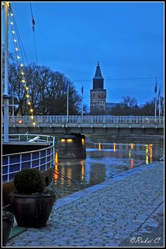 River and cathedral in the background, Turku, Finland Copyright: Ruxandra Canarache