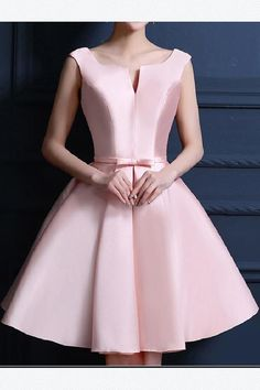 V-Neck Homecoming Dresses, Pink Short Homecoming Dresses, Pink Homecoming Dress Bowknot Lace-up Satin Short Prom Dress Party Dress Lace Homecoming Dresses, Prom Party Dresses, Evening Dresses, Dress Party, Custom Made Prom Dress, Beautiful Prom Dresses, Lace Dress, Short Dresses, Pink Dresses