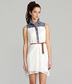 """Like the Shirt Dress, but its the chambray and lace that make it a """"must buy"""""""