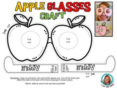Johnny APPLESEED APPLE Glasses to celebrate learning about apples! Directions…
