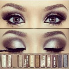 Eye Makeup / Urban Decay Naked Palette - bought it today and I WILL be trying this :)