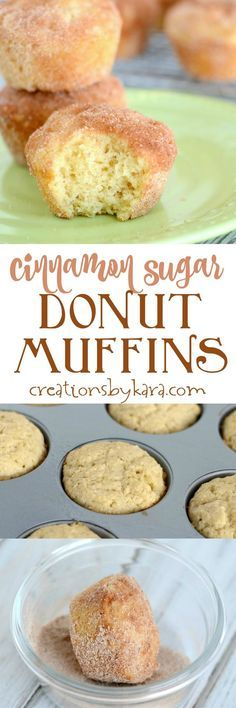 If you love cinnamon donuts, you will love these Cinnamon Sugar Donut Muffins. A favorite muffin recipe for breakfast, brunch, or snacking. Everyone loves these muffins!  See more http://recipesheaven.com/paleo