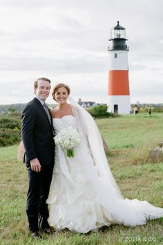 Inspiration from the Nantucket Whaling Museum and local history played a big role in this couple's big day. See more at dailycatch.coastalliving.com and @soireefloral