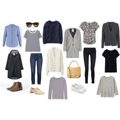 Early Spring Capsule Wardrobe by victoriastyle on Polyvore featuring mode, Boden, Jigsaw, French Connection, Uniqlo, Joseph, Toast, Seasalt, J Brand and AG Adriano Goldschmied