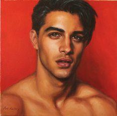 Digital Portrait, Portrait Art, Portrait Photography, Photography Tips, Digital Art, Handsome Male Models, Handsome Man, Male Model Face, Dark Haired Men