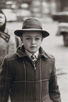 Boy in man's hat, NYC, 1956. Diane Arbus