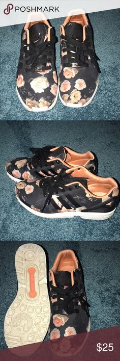 Adidas Sneakers -Floral adidas -No smell -Worn a few times but is in good condition -Has a few marks on the inside of the shoe Shoes Sneakers