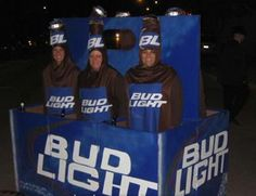 Awesome Halloween costume! #Budlight #BeerLovesYou