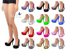 The Sims Resource: Imani Pumps by Ms Blue • Sims 4 Downloads