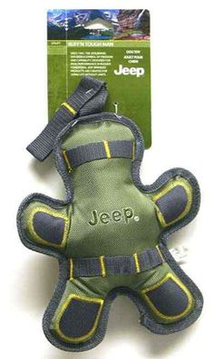 "All Things Jeep - Jeep Ruff'n Tough 10"" Squeaky Green Man Dog Toy"