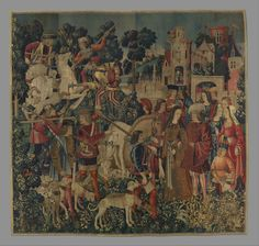 The Unicorn is Killed and Brought to the Castle (from the Unicorn Tapestries) | South Netherlandish | The Metropolitan Museum of Art Medieval Tapestry, Medieval Art, French Cartoons, Unicorn Tapestries, Westerns, Textile Tapestry, Classic Image, Middle Ages, Metropolitan Museum