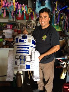 Pinatas Villafan - Santa Ana, CA, United States. The piñata maker himself with a Customize R2-D2, easy to medium break open strength for younger kids.