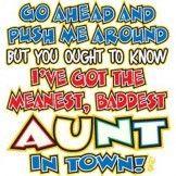 AUNT KIDS T SHIRT WHITE SS/LS YOUTH TODDLER BABY SHOWER BIRTHDAY GIFT push me xx