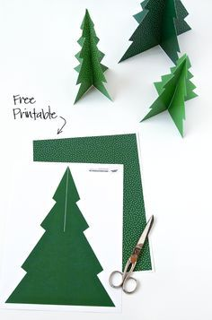 Free Printable Pine Tree Forrest – Paging Supermom - Obst Christmas Tree Template, 3d Christmas Tree, Free Christmas Printables, Christmas Time, Free Printables, Christmas Tree Printable, Christmas Tables, Christmas Banners, Scandinavian Christmas