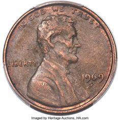 Lincoln Cents, 1969-S 1C Doubled Die Obverse, FS-101, AU53 PCGS....