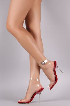 0ac03f76185 Transparent Open Toe Crisscross Ankle Strap Stiletto Heel  fashion   clothing  shoes  accessories