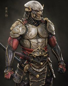 Yoshimitsu by Raf Grassetti : gaming Fantasy Samurai, Samurai Concept, Samurai Warrior, Armor Concept, Fantasy Armor, Dark Fantasy Art, Medieval Fantasy, Oni Samurai, Ninja Kunst