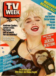 TV Week 1987 MADONNA COVER Michael Jackson ANDY GIBB David Soul ANDREW CLARKE   eBay