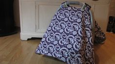 Car seat cover/ Canopy Cover Purple by mydoodlebugshoppe on Etsy, $22.50