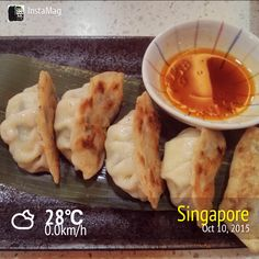 #FD1510 #JapaneseFood   日式煎饺子。