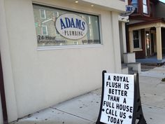 A wonderful sense of humor from a plumbing company in Hellertown, PA